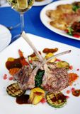Lamb steak with sauce Royalty Free Stock Photo