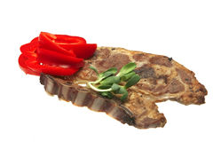 Lamb steak and vegetables Royalty Free Stock Photos