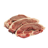 Lamb steaks. Lamb steaks isolated on white Royalty Free Stock Photography