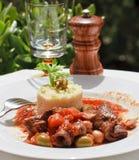 Lamb stew with rice Stock Photo