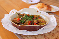 Lamb stew with vegetables Royalty Free Stock Images