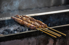 Lamb on a stick Royalty Free Stock Images
