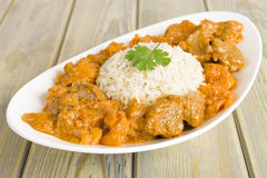 Lamb and Sweet Potato Peanut Stew Stock Photo