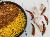 Lamb Tagine With Couscous and Chickpeas Stock Photography