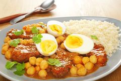 Lamb Tagine with Egg Royalty Free Stock Photo