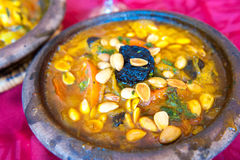 Lamb Tajine, Traditional Moroccan Dish Royalty Free Stock Photos
