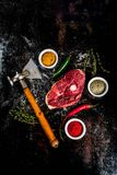 Lamb tenderloin with spices Stock Images
