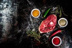 Lamb tenderloin with spices Stock Photos