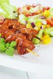 Lamb Tikka with Salad Royalty Free Stock Photography
