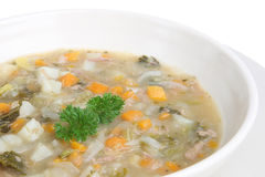 Lamb and Vegetable Soup Royalty Free Stock Photography