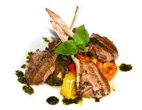Lamb with vegetables Royalty Free Stock Image