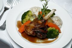 Lamb and vegetables Stock Images