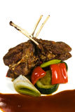 Lamb with vegetables Stock Photo