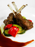 Lamb with vegetables Stock Images