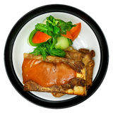 Lamb. With vegetables in a plate Stock Photography