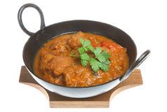 Lamb Vindaloo Indian Curry. Lamb vindaloo in an authentic korahi dish Stock Photo