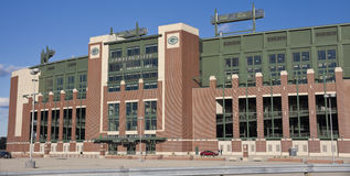 Lambeau Feld im Green Bay, Wisconsin Stockbild