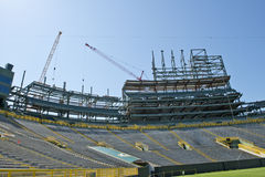 Lambeau Field Construction, Green Bay Packers Stock Photos