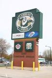 Lambeau Field - Green Bay Packers. Green Bay Packers logo at historic NFL stadium royalty free stock photos