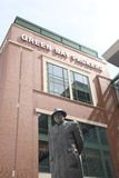 Lambeau Field - Green Bay Packers Vince Lombardi. Statue of legendary coach Vince Lombardi outside Lambeau Field, home of the football Green Bay Packers royalty free stock images