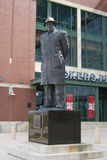 Lambeau Field - Green Bay Packers Vince Lombardi. Statue of legendary coach Vince Lombardi outside Lambeau Field, home football field of the Green Bay Packers royalty free stock photo