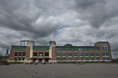 Lambeau Field, Home of the Green Bay Packers. Lambeau Field, Green Bay, Wisconsin. The Packers division rivals are the Chicago Bears, Minnesota Vikings, and the royalty free stock image