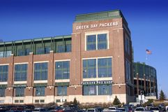 Lambeau Field, Home of the Green Bay Packers. Lambeau Field in Green Bay, Wisconsin stock photo