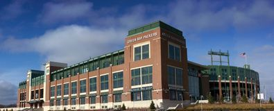 Lambeau Field, Home of the Green Bay Packers Royalty Free Stock Photos