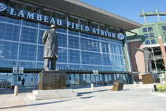 Lambeau Field, Home of the NFL Green Bay Packers. Main entrance to Lambeau Field, home of the Green Bay Packers in Wisconsin. The stadium is an icon of the stock photo