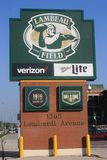 Lambeau Field Sign in Green Bay, WI Stock Image
