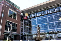 Lambeau Field. Statues in front of Lambeau Field royalty free stock images