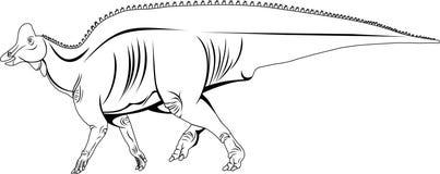 Lambeosaurus laticaud wektor ilustracji