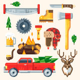 Lamberjack pieces vector kit Stock Photos