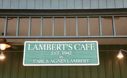 Lambert`s Cafe, Missouri Stock Image
