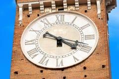 Lamberti Clock Tower - Verona Italy Stock Images