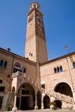 Lamberti Kontrollturm, Verona Lizenzfreies Stockfoto