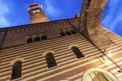 Lamberti Kontrollturm in Verona Lizenzfreie Stockfotos