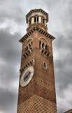 Lamberti tower in Erbe square Royalty Free Stock Images