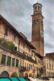 Lamberti tower in Erbe square Royalty Free Stock Photography