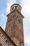Lamberti tower and  Palazzo della Ragione in Verona Royalty Free Stock Photography