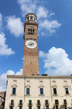 Lamberti Tower, Piazza delle Erbe, Verona, Italy Royalty Free Stock Photos