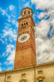 Lamberti Tower in Piazza Signori in Verona, Italy Stock Images