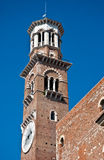 Lamberti Tower in Verona royalty free stock photo