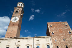 Lamberti tower in Verona Royalty Free Stock Photography