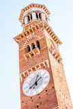 Lamberti tower in verona Royalty Free Stock Photos