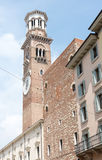 Lamberti Tower in Verona Royalty Free Stock Image