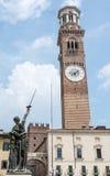 Lamberti Tower in Verona Stock Photography