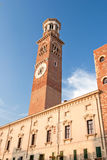 Lamberti tower, verona, italy Royalty Free Stock Photos