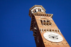 Lamberti Tower in Verona Stock Photos