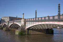 Lambeth Bridge and River Thames, Westminster, London Royalty Free Stock Photos